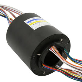 China Through Hole Rotating Slip Ring 24 Circuit 15A Speed 300RPM Voltage 240VAC factory