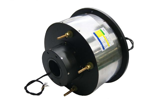 14 Circuits Routing Through Bore Slip Ring φ80mm 400A Large Current For Marine