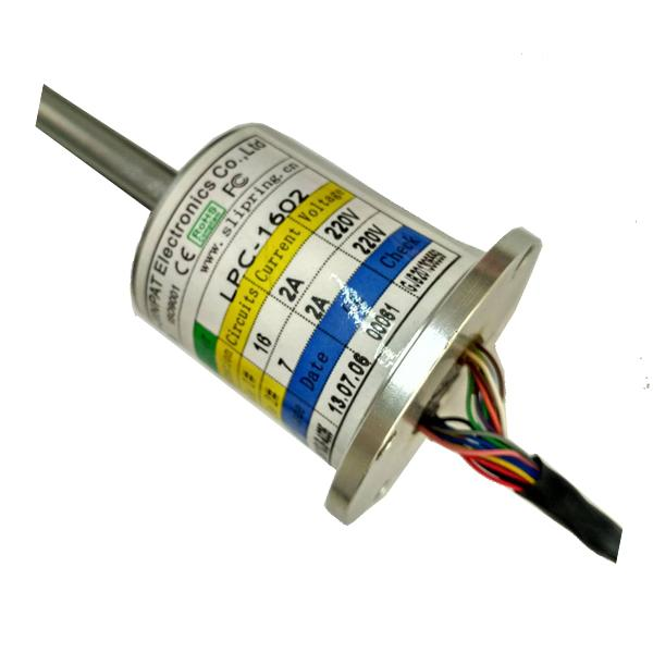 16 Circuits 220VAC/DC Capsule Slip Ring with 2 Amps  Per Circuit and Low Torque Transferring Analog & Digital Signals