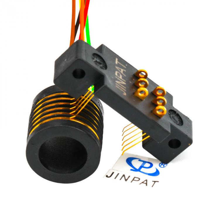 Gold - Gold Contacts Standard Slip Ring 240V AC / DC Voltage With Separate Rotor Stator