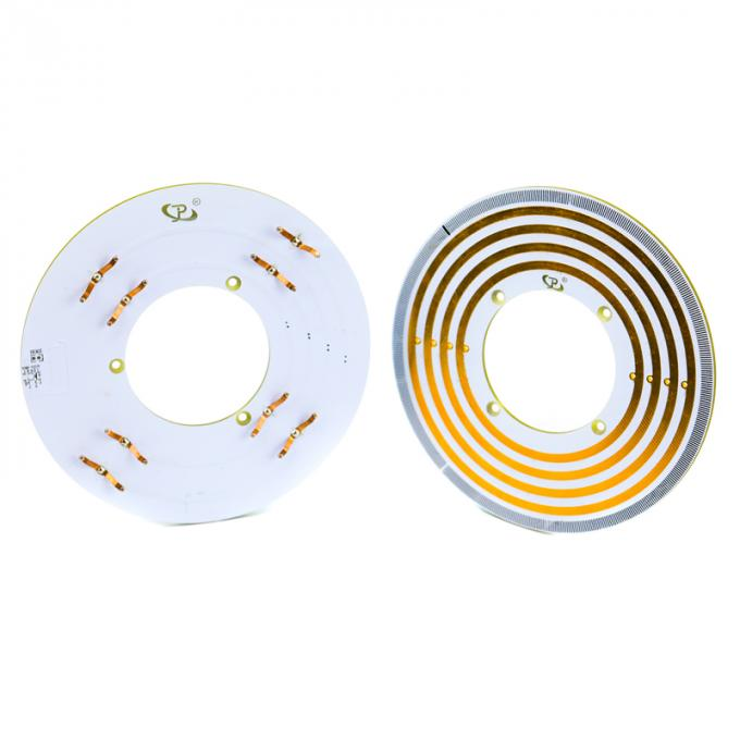 Light 6mm Thickness Pancake Slip Rings with High Rotating Speed and Stable Contact