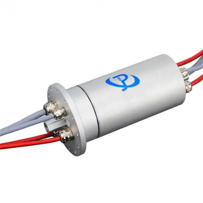 15 Circuits through bore slip rings with a Large Dielectric Strength and Voltage of 250V / 30V