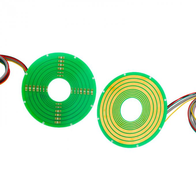 5 Circuits Pancake Slip Ring Transferring 12A Current and Ethernet Signal with Reliable Performance