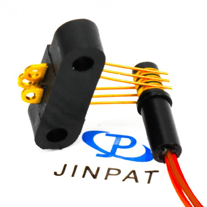 3 Circuits Orange Wire Separate Slip Ring , Best Gold Plated Contact Materials For Medical Field