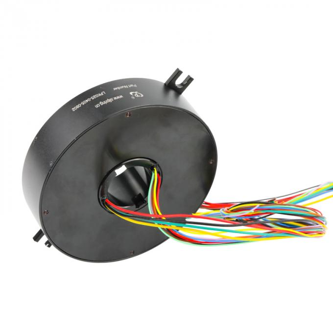 Pancake Slip Ring of 12 Circuits with φ25mm Through Hole 240VAC / VDC for Construction Machinery