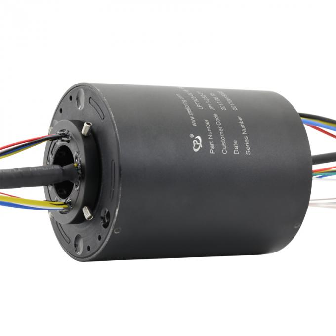 16 Circuits Through Bore Slip Ring with a 25mm Hole for Signal Transmission