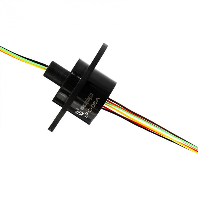 CCTV Capsule Slip Ring with 6 Circuits@ 2 amps per circuit and Long Service Life IP54 Protection