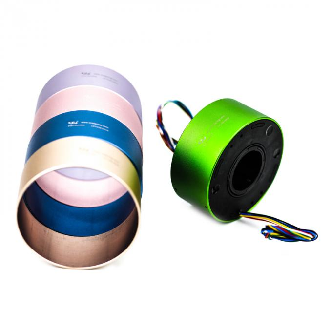 High Voltage Industrial Slip Ring 380VAC 1-24 Wires For Resistors Cutting Machine
