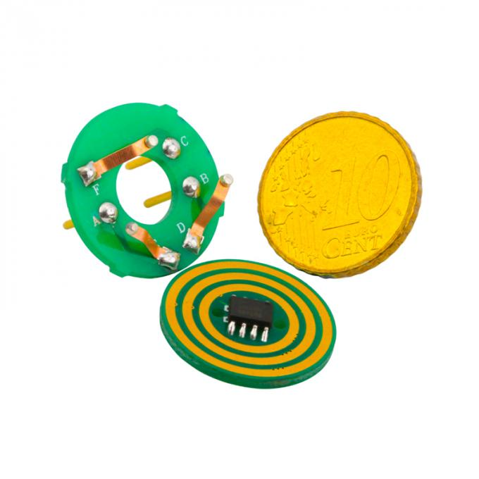 3 Circuits Small Dimension Separate Pancake / Flat Slip Ring Transferring Power and Other Signals