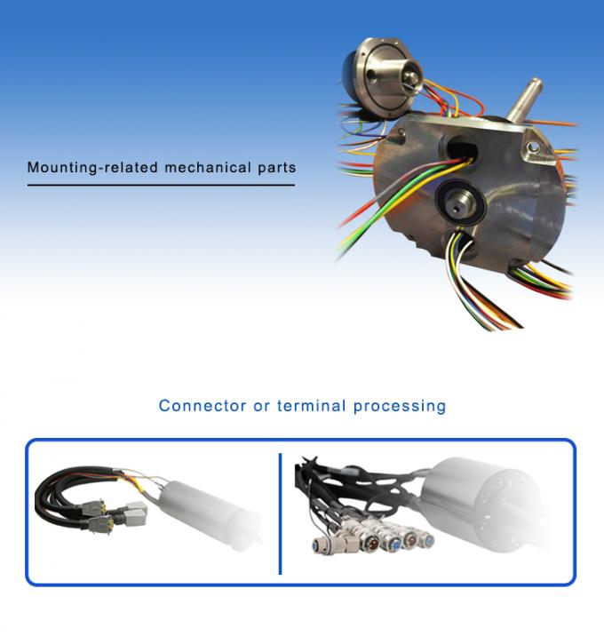 High Frequency Rotating Electrical Connector Slip Ring With Flying Lead , High Protection Level