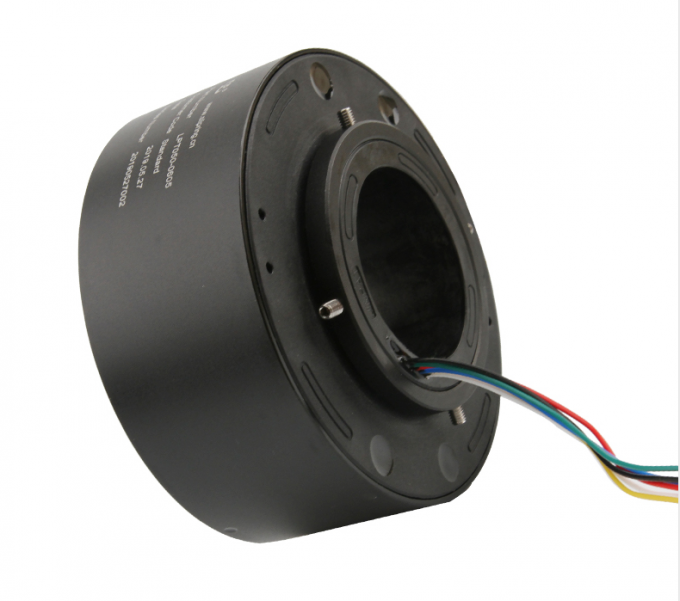 6 Circuits 5A Through Hole Slip Ring 360 Degree Continuous Rotation To Transmit Power / Data Signals